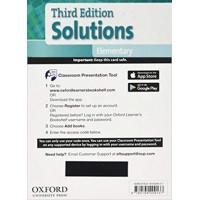 Solutions 3rd Ed. Elem. Classroom Presantation Tool Access Card