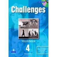 Challenges 4 WB + CD-ROM (pratybos)