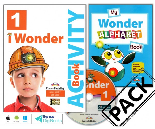 iWonder 1 WB + ieBook, Alphabet Book & DigiBooks App (pratybos)