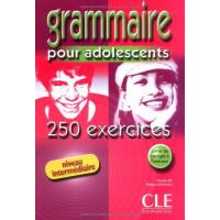 Grammaire 250 Exercices pour ados Int. Livre + Corriges