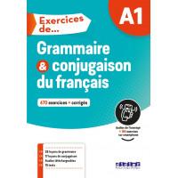Exercices de Grammaire & Conjugaison A1 Livre + CD & Appli