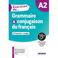 Exercices de Grammaire & Conjugaison A2 Livre + CD & Appli