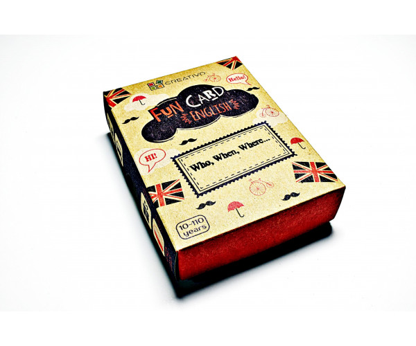 FUN CARD ENGLISH - Who, When, Where